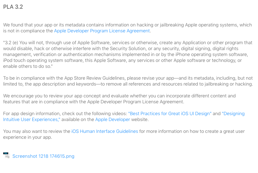 App Store review ridiculousness: Apple rejects